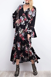 easel Black Floral Maxi - Front cropped
