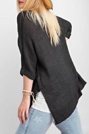 easel Black Sweater Top - Side cropped