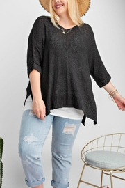 easel Black Sweater Top - Product Mini Image