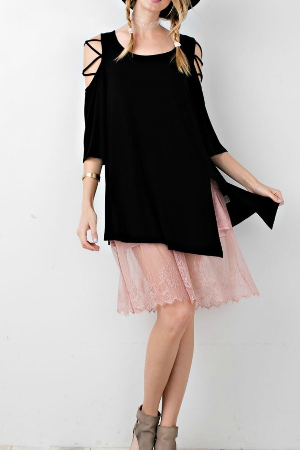 easel Black Tunic - Front Cropped Image