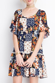 easel Blue Calico Dress - Product Mini Image