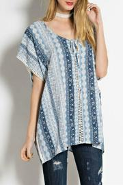 easel Blue Floral Tunic - Product Mini Image
