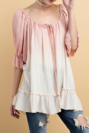 easel Blush Ombre Top - Product Mini Image