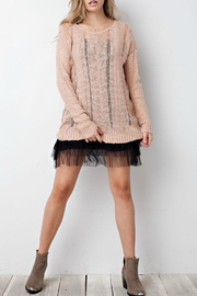 easel Blush Sweater - Front cropped
