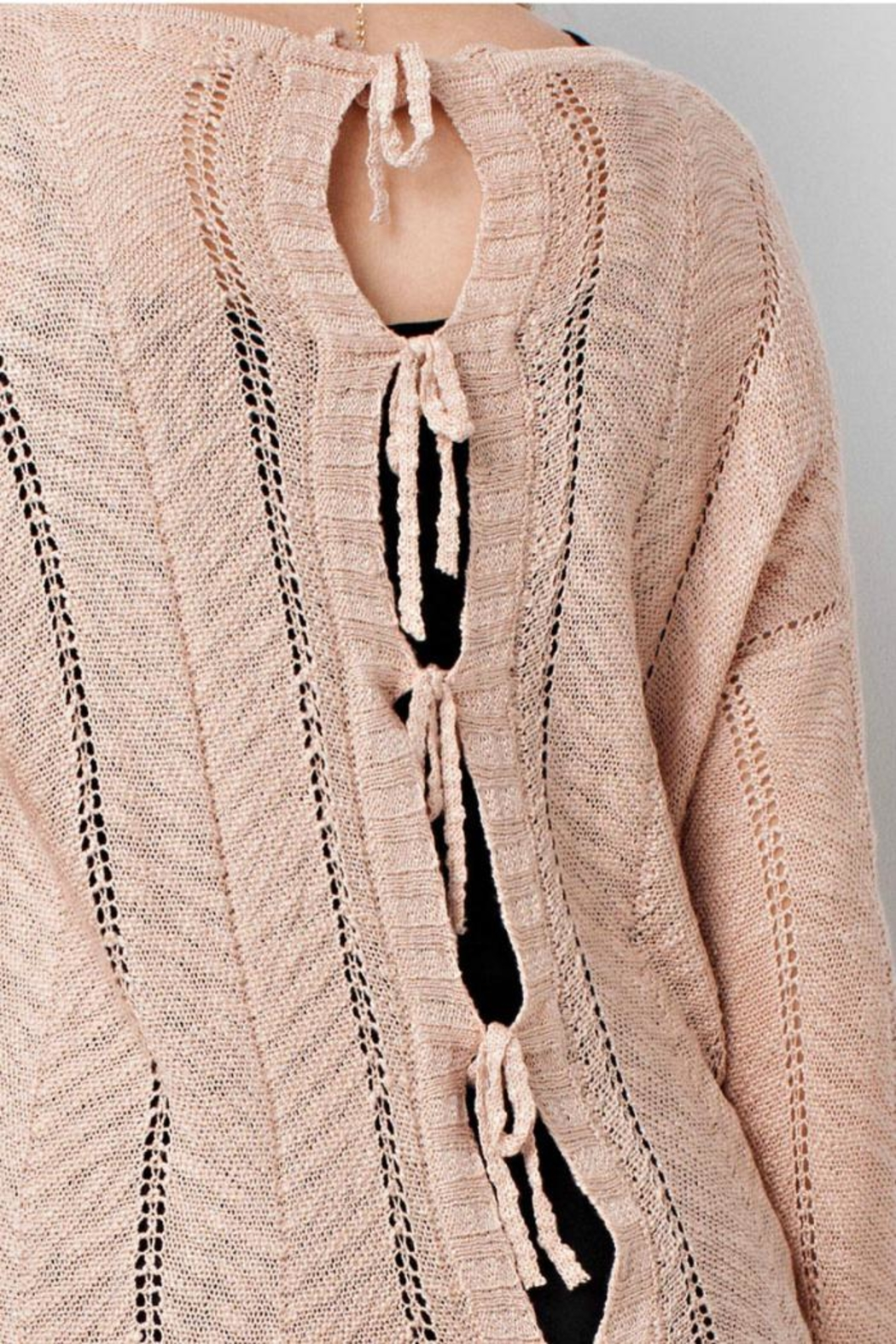 easel Blush Sweater - Front Full Image