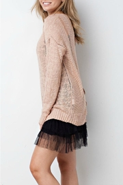 easel Blush Sweater - Side cropped