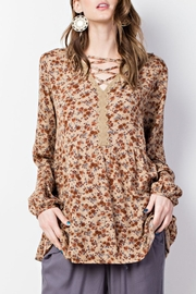 easel Boho Floral Top - Product Mini Image
