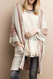 easel Boho Knit Cardigan - Product Mini Image