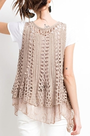 easel Boho Parisian Vest - Side cropped