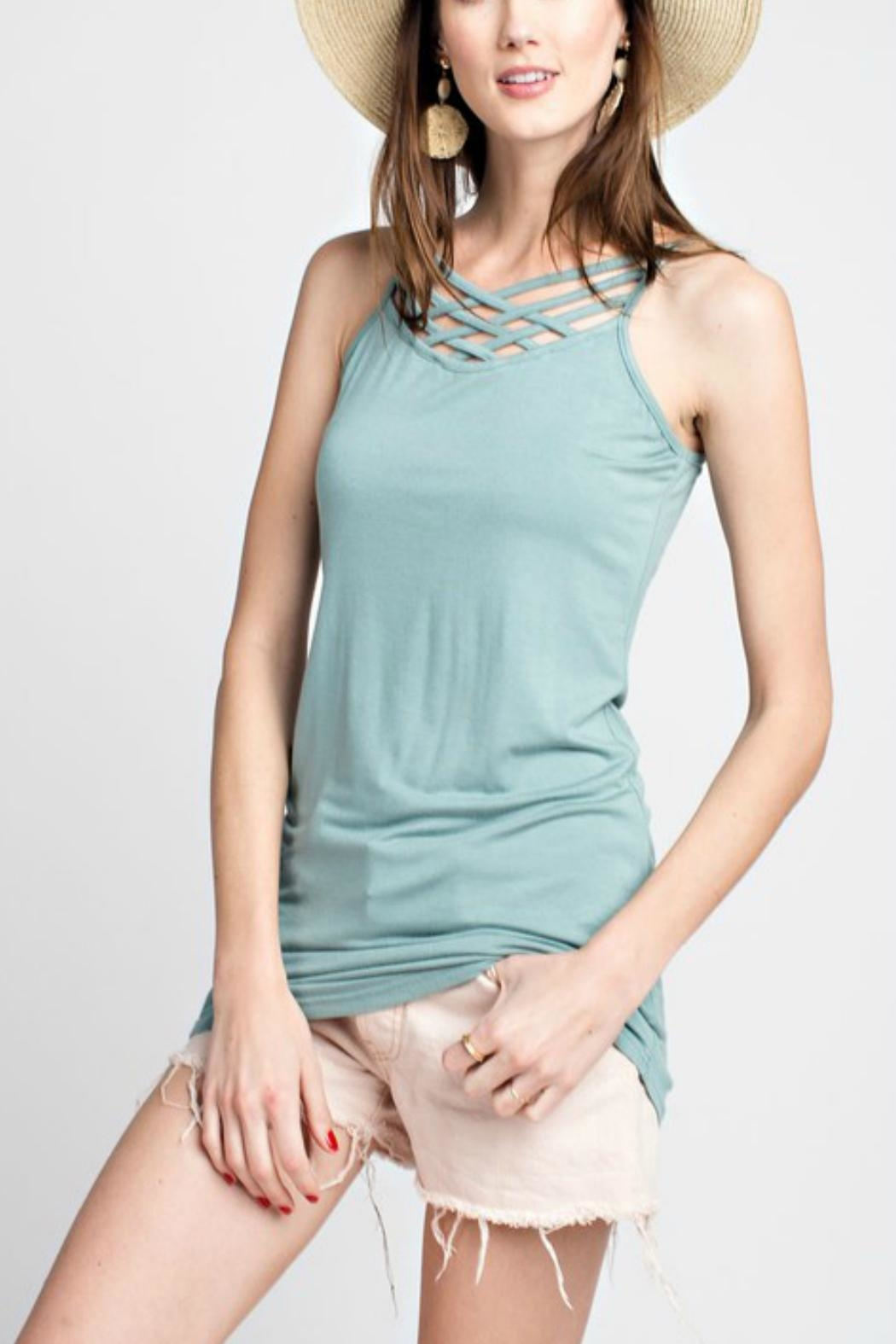 easel Braided-Straps Tank Tunic - Front Full Image