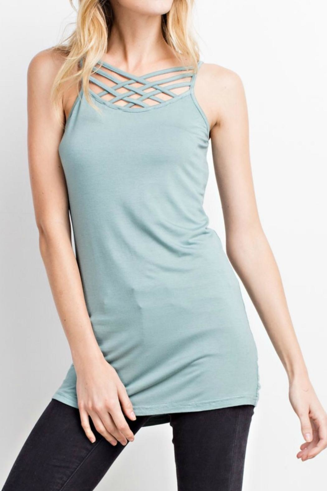 easel Braided-Straps Tank Tunic - Main Image