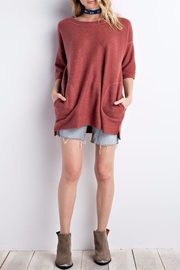 easel Brushed Boxy Top - Front cropped