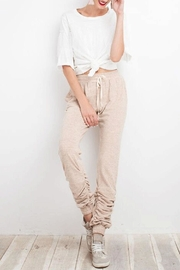 easel Brushed Shirring Sweat - Front cropped