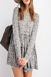 easel Burnout Animal-Print Tunic - Back cropped