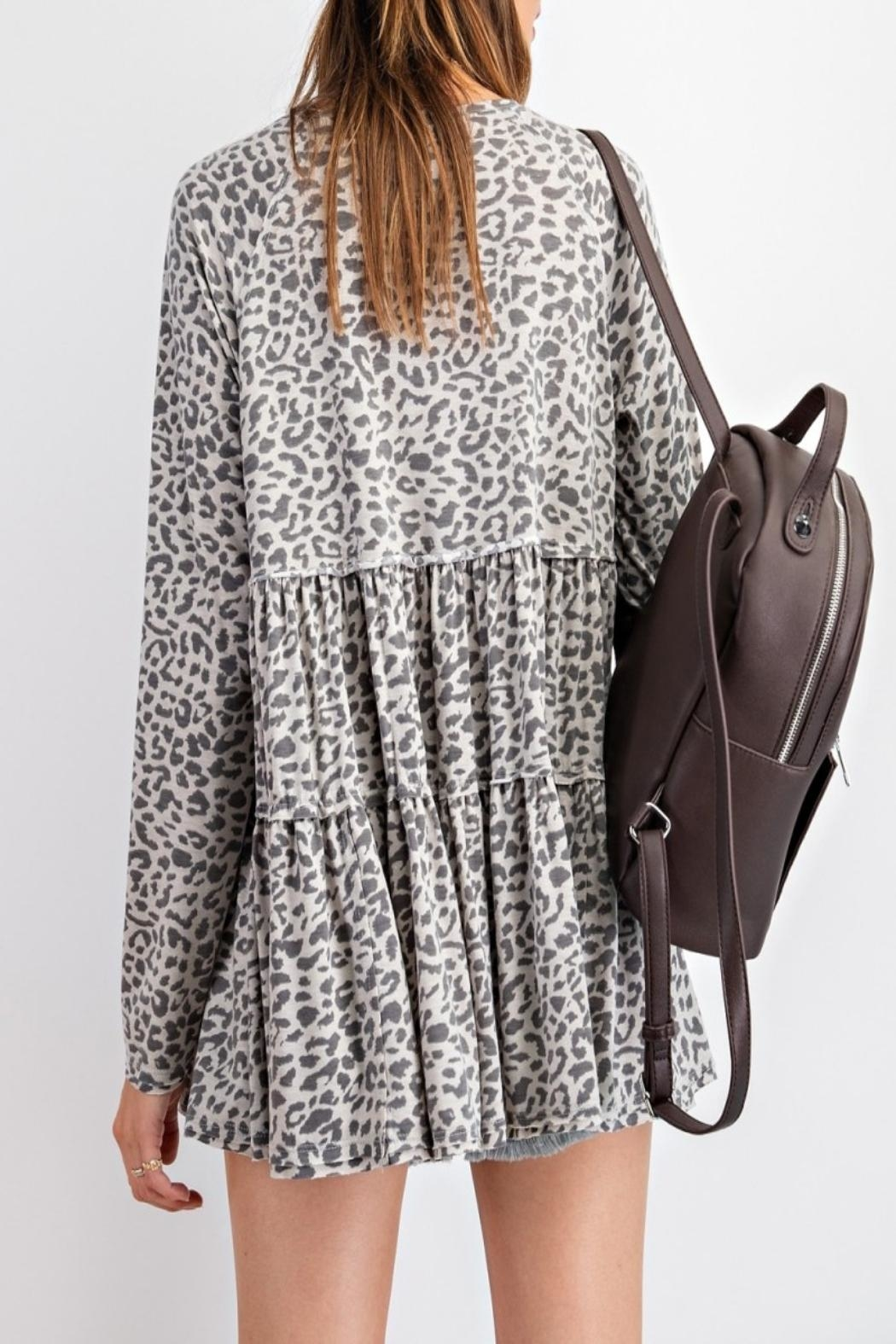 easel Burnout Animal-Print Tunic - Front Full Image