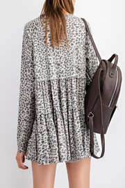 easel Burnout Animal-Print Tunic - Front full body