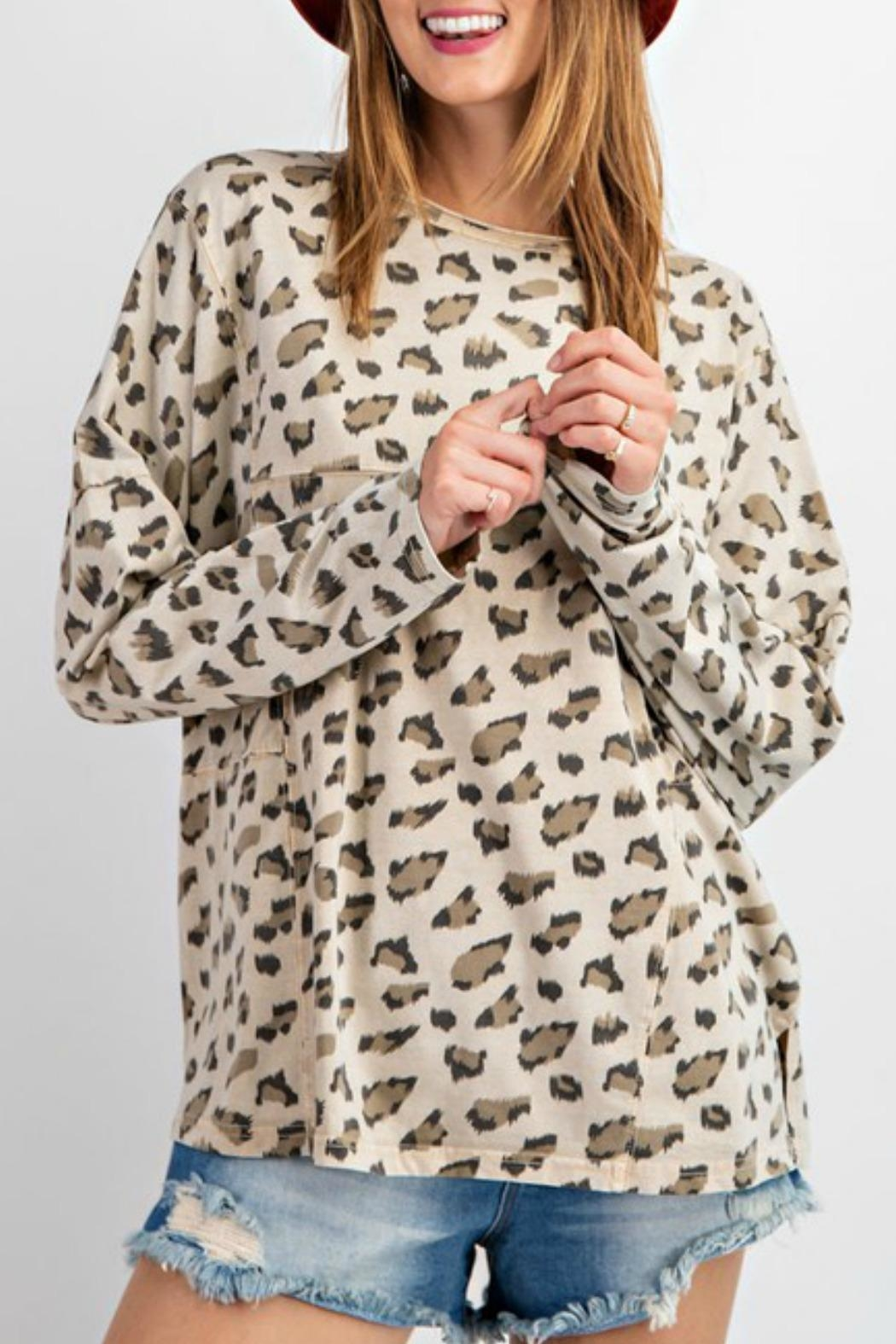 easel Carly Leopard Top - Main Image