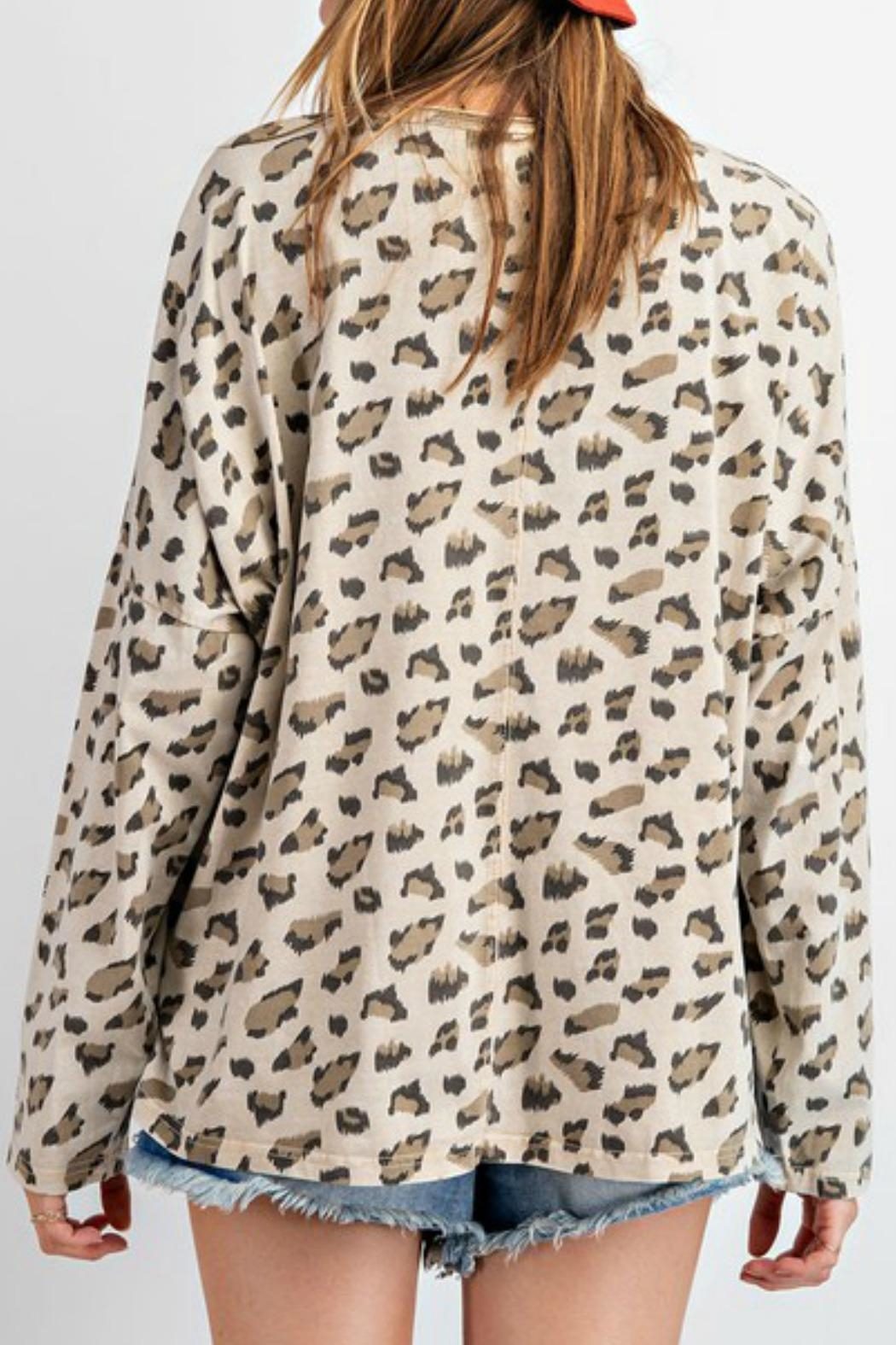 easel Carly Leopard Top - Front Full Image