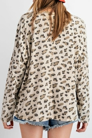 easel Carly Leopard Top - Front full body