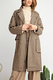 easel Classy Plaid Coat - Front cropped