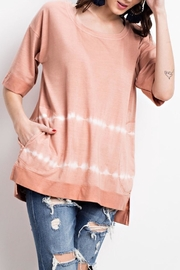 easel Casual Storm-Dye Top - Product Mini Image