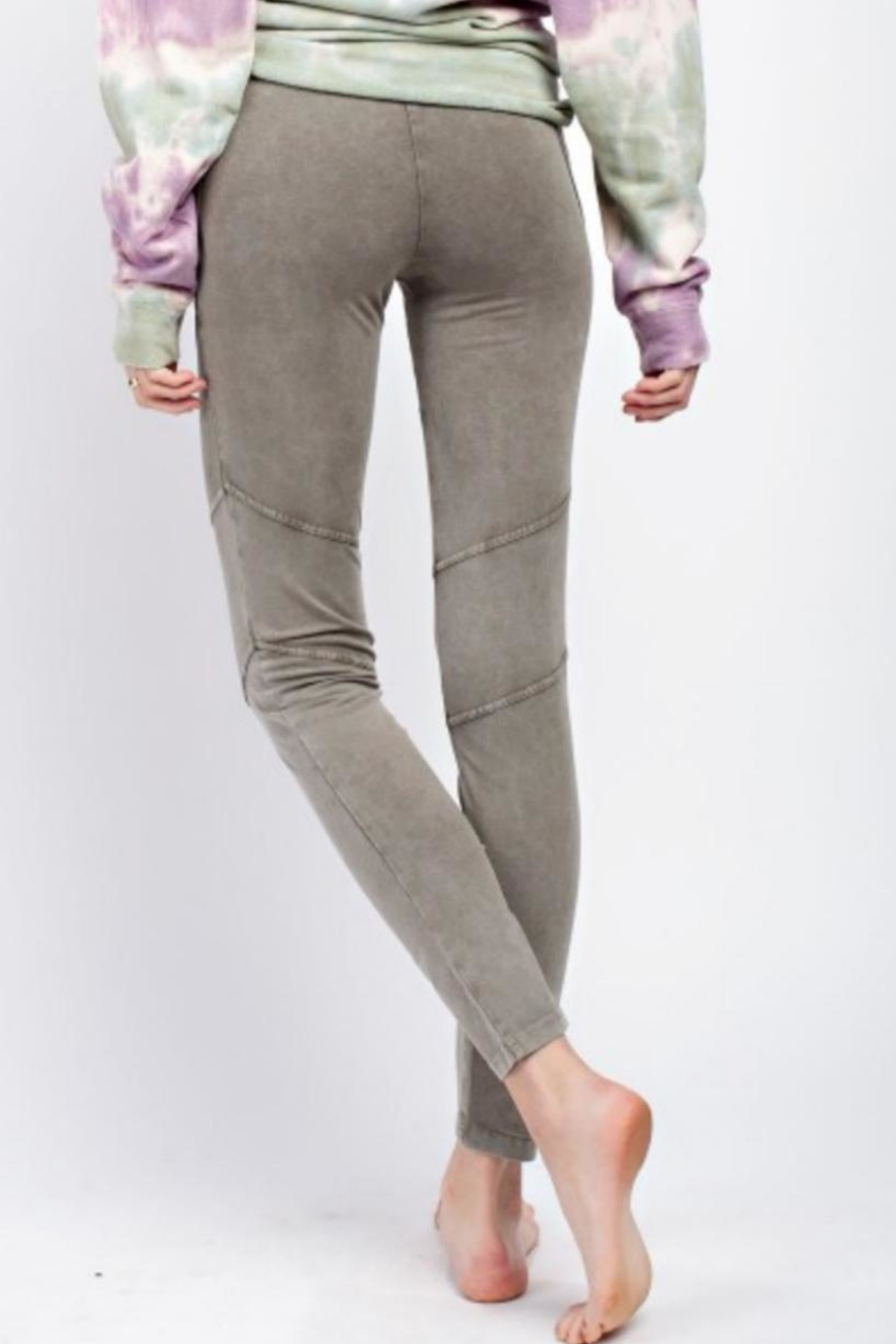 easel Casual Washed Leggings - Front Full Image