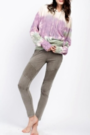 easel Casual Washed Leggings - Back cropped