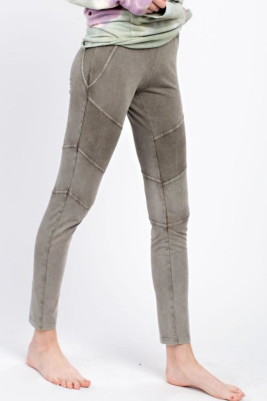 easel Casual Washed Leggings - Side Cropped Image