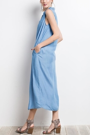 easel Chambray Shirt Dress - Side cropped