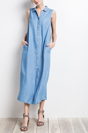 easel Chambray Shirt Dress - Product Mini Image