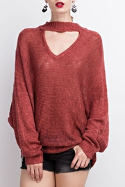 easel Choker Sweater Tunic - Product Mini Image