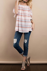 easel Cold Shoulder Crinkle Tunic - Product Mini Image