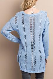 easel Cold Shoulder Knitted Sweater - Other