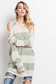 easel Cold Shoulder Sweater - Product Mini Image