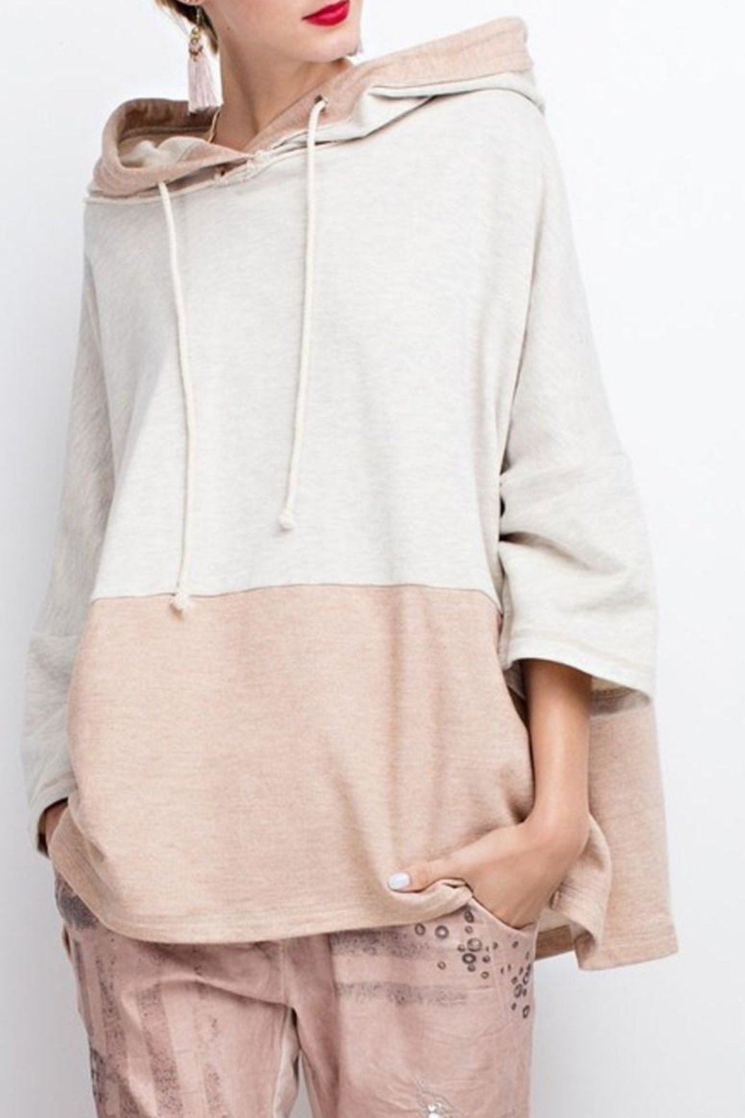 easel Color Block Hoodie - Front Full Image