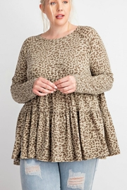 easel Cheetah Ruffled Babydoll - Front cropped