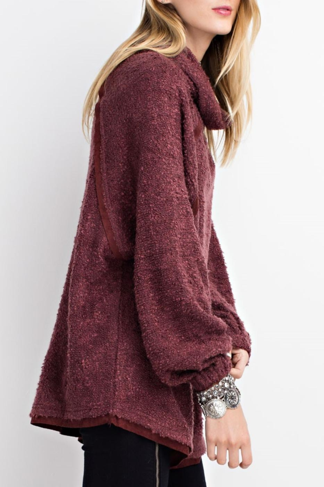 easel Cowl Neck Pullover Sweater - Side Cropped Image