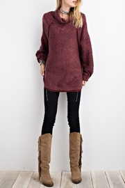 easel Cowl Neck Pullover Sweater - Back cropped