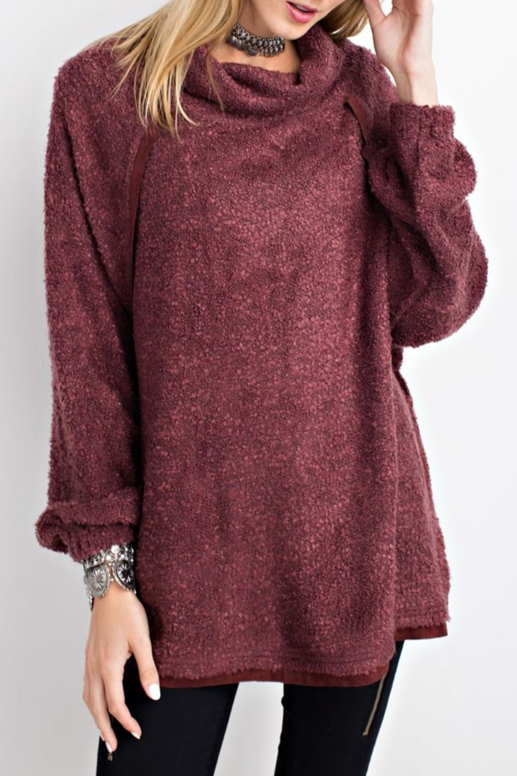 easel Cowl Neck Pullover Sweater - Main Image