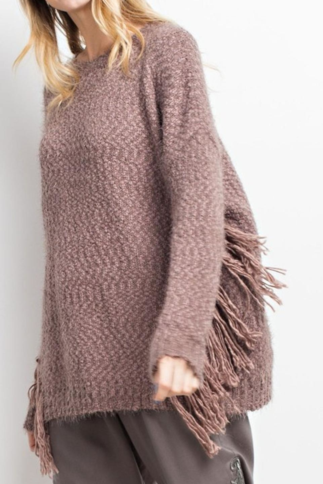 easel Cozy Sweater - Back Cropped Image