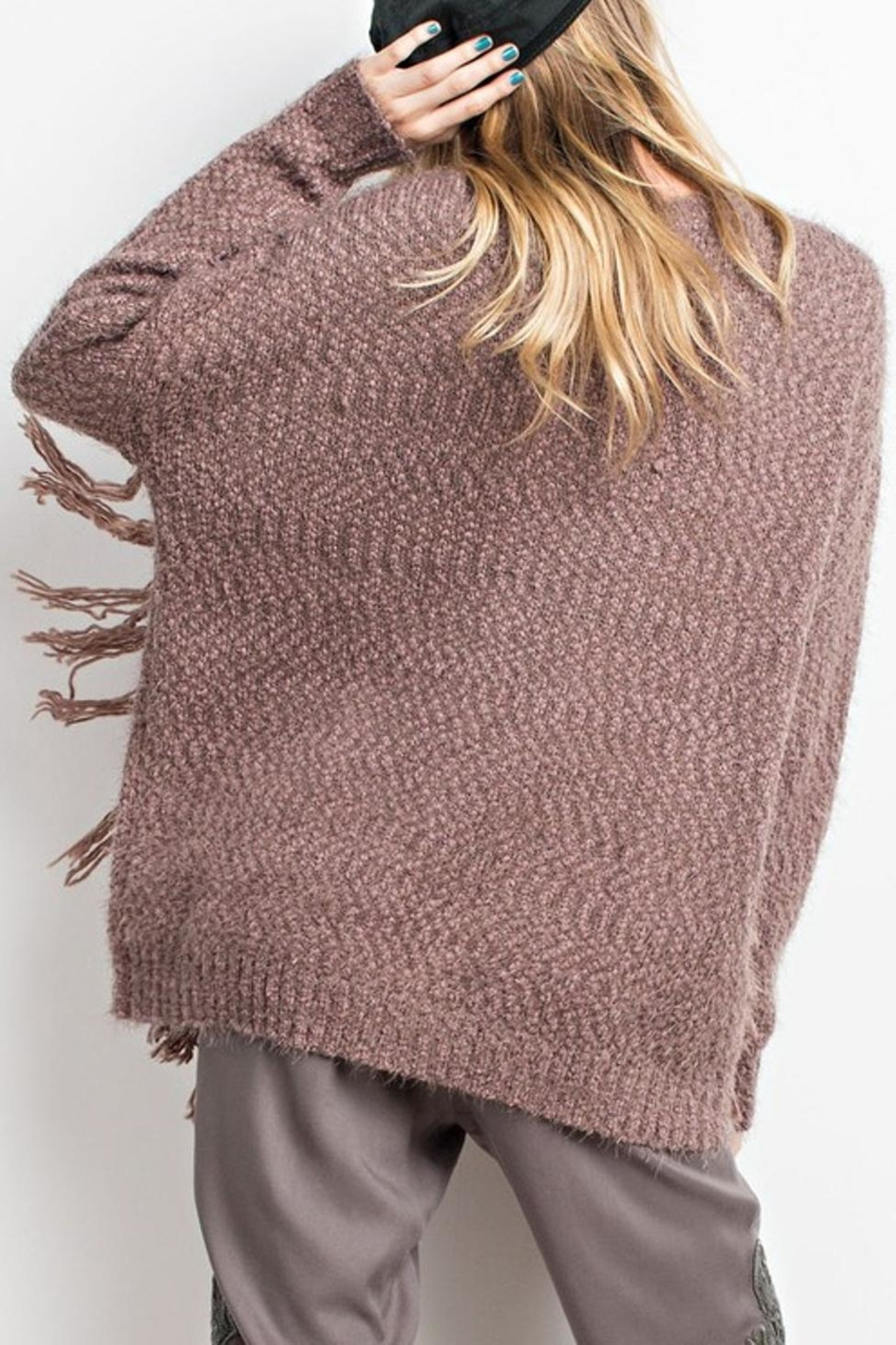easel Cozy Sweater - Side Cropped Image