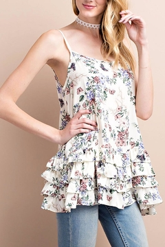 Shoptiques Product: Cream Floral Cami