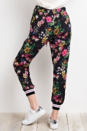 easel Crepe Floral Pants - Front full body