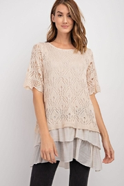 easel Crepe Lace Blouse - Product Mini Image