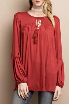 Shoptiques Product: Crimson Tassel Top