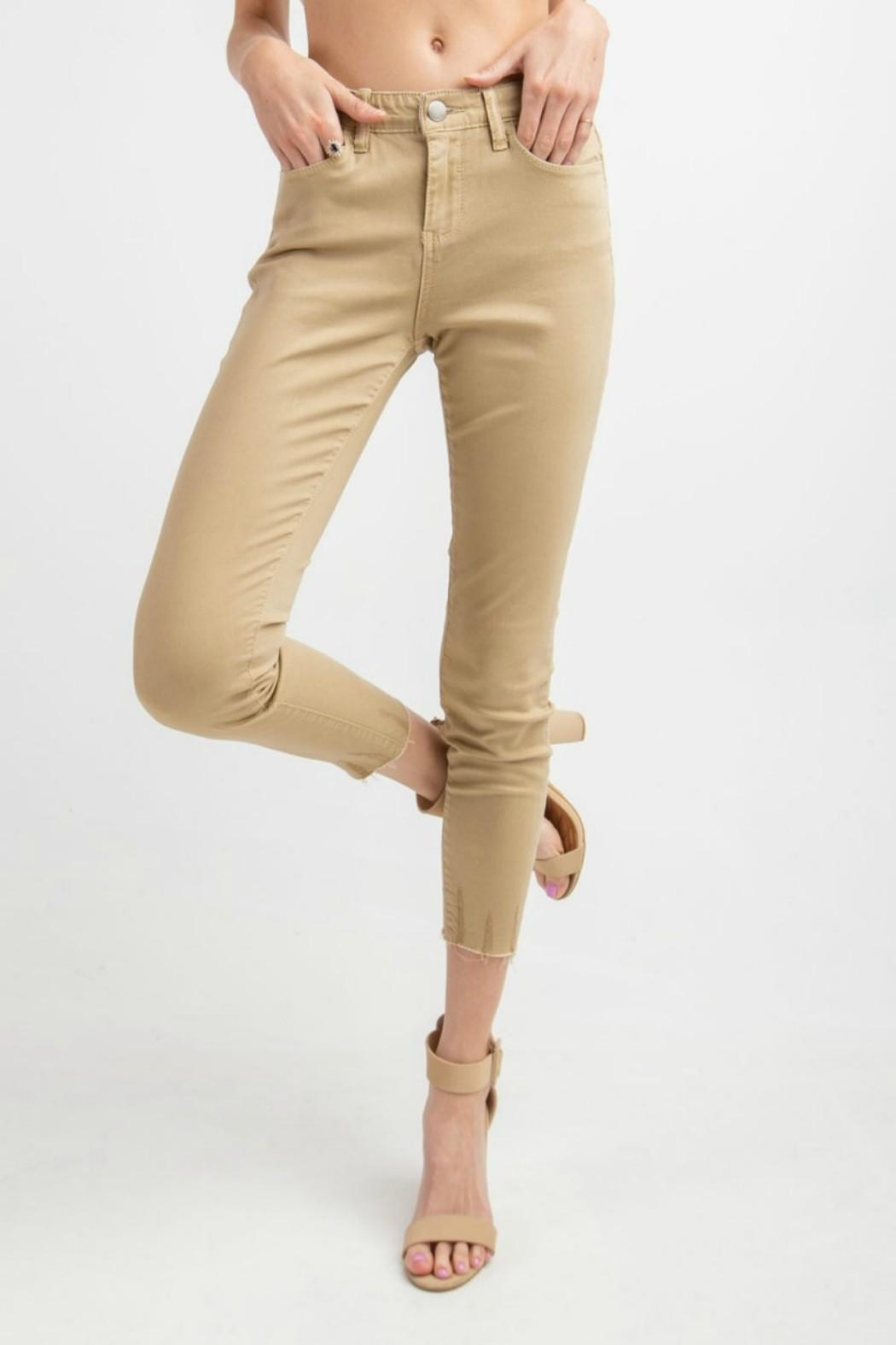easel Cut-Edge Stretch Jeggings - Main Image