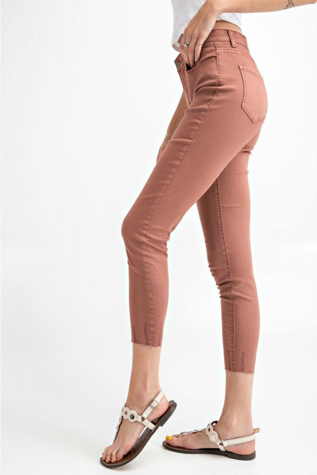 easel Cut-Edge Stretch Jeggings - Side Cropped Image