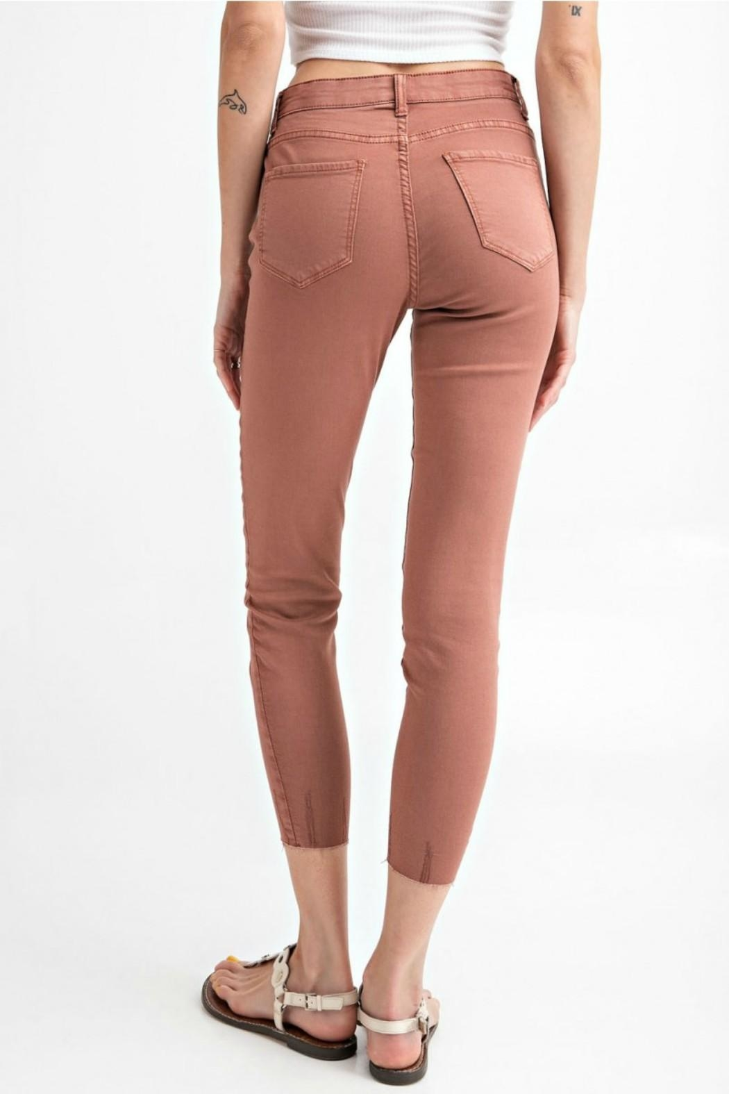 easel Cut-Edge Stretch Jeggings - Front Full Image