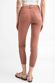 easel Cut-Edge Stretch Jeggings - Front full body