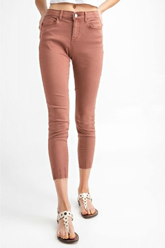 easel Cut-Edge Stretch Jeggings - Product List Image